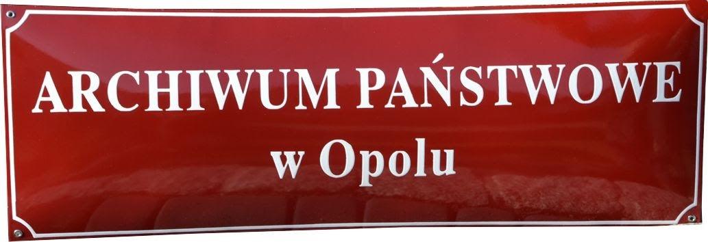Archiwum Państwowe w Opolu tablica emaliowana
