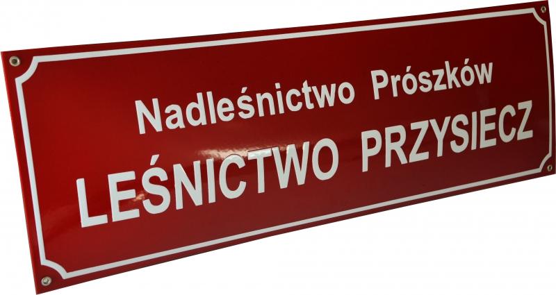 lesnictwo_przysiecz tabliczka urzedowa emaliowana
