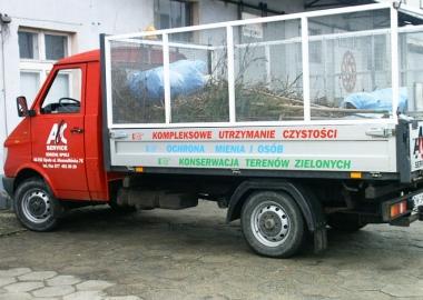 abc service naklejki na samochod dostawczy STM REKLAMA falmirowice-opole