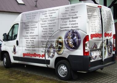 reklama na samochodzie kupie sprzedam folia wylewana STM REKLAMA falmirowice-opole