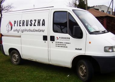 reklamy na samochodach dla firmy pieruszka STM REKLAMA falmirowice-opole